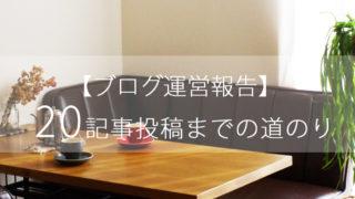 ブログ運営報告-20記事目