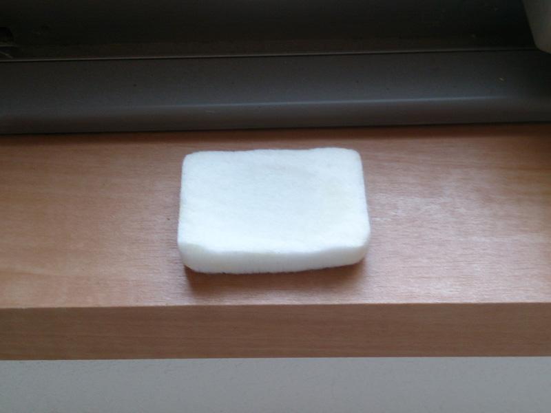 アロマオイルを吸水し香りの元になる脱脂綿