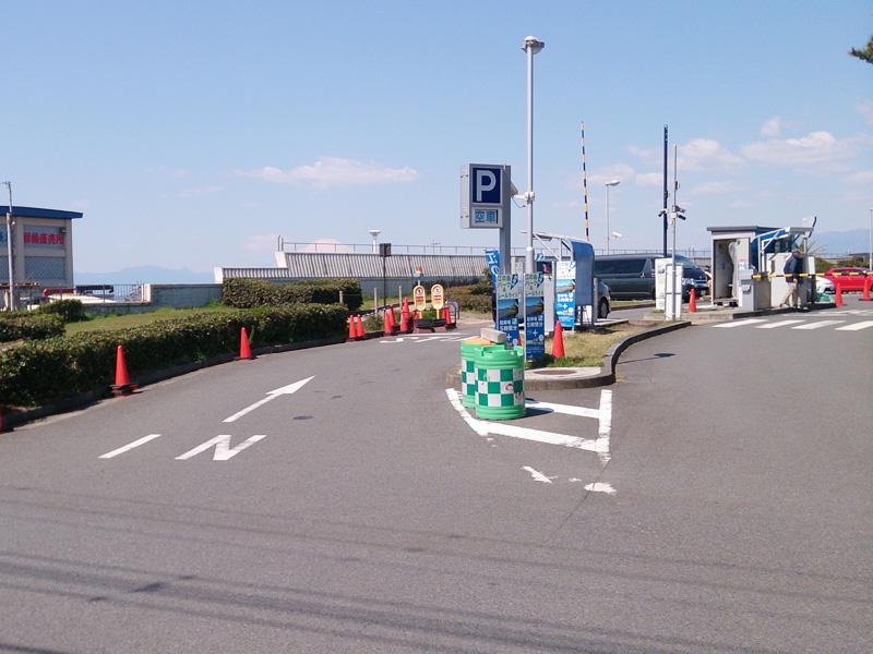 江ノ電駐車センターの入り口